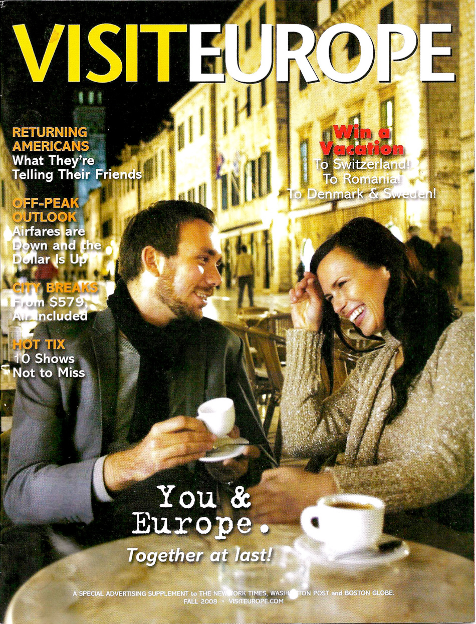 VisitEurope Magazine Cover Fall 2008